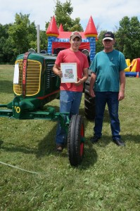 Best Restoration honors at the Unity Area FFA Alumni Antique Tractor Show went to Jace Schlechter of Balsam Lake with his Oliver