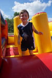 Carter enjoyed his time in the Bouncy house at Centuria