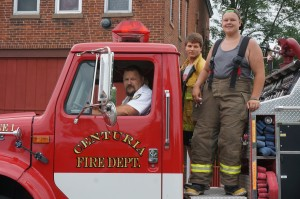 The Centuria Fire Department has a Cadet program, that helped out during Memory Days