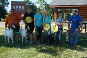 Goat Show winners from Memory Days included: Jena Alling, Anna Larsen-Champion Meat Goat, Vanessa Wolff, Amy Mevissen-Champion Dairy Goat, Amber Mevissen-Champion exotic Breeds, and Gene Mevissen.