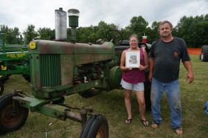 Most Original honors went to this John Deere 530 at the Unity Area FFA Alumni Antique Tractor Show at Memory Days